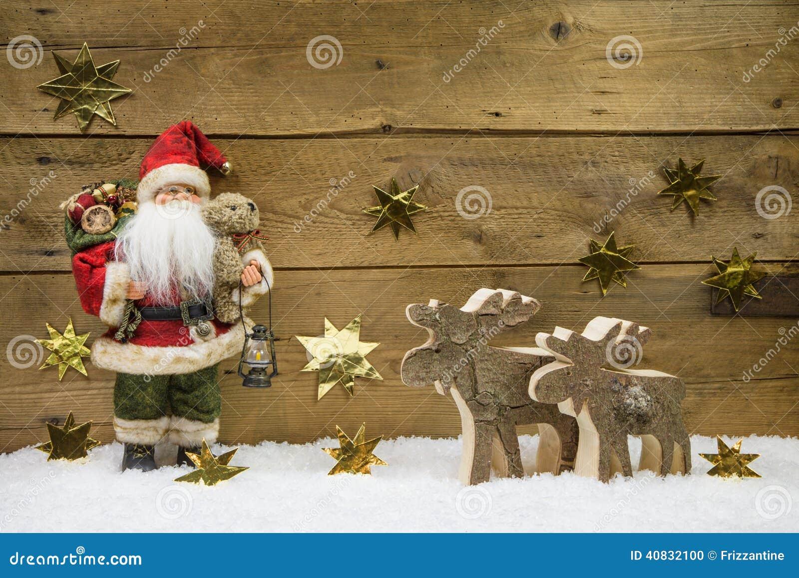 Christmas Decorations Wood Wallpaper