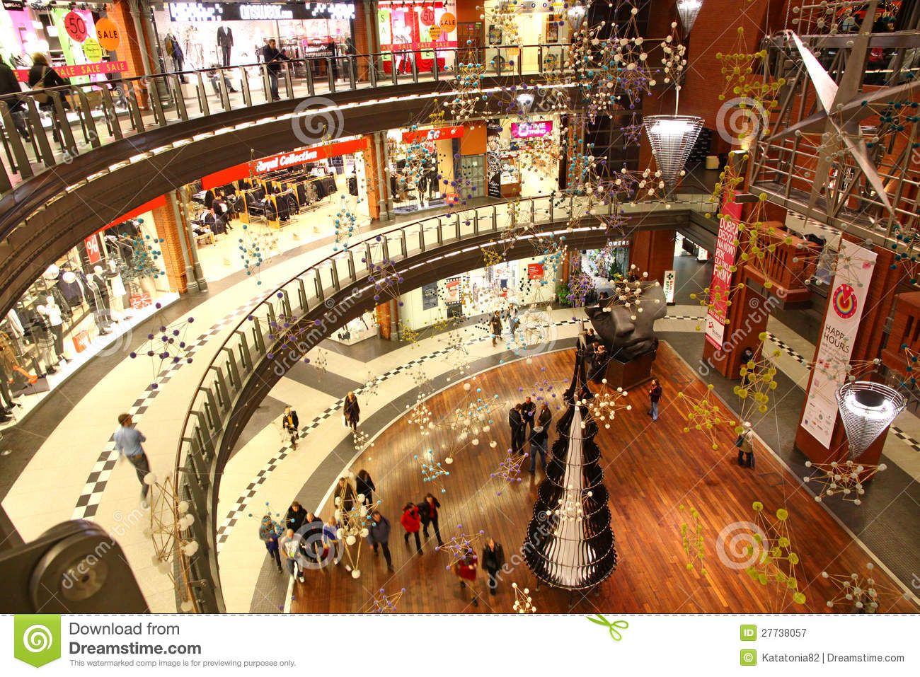 Christmas Decoration In Shopping Mall Editorial Photography Image