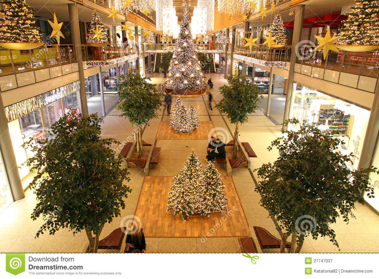 Christmas Decoration In Shopping Mall Editorial