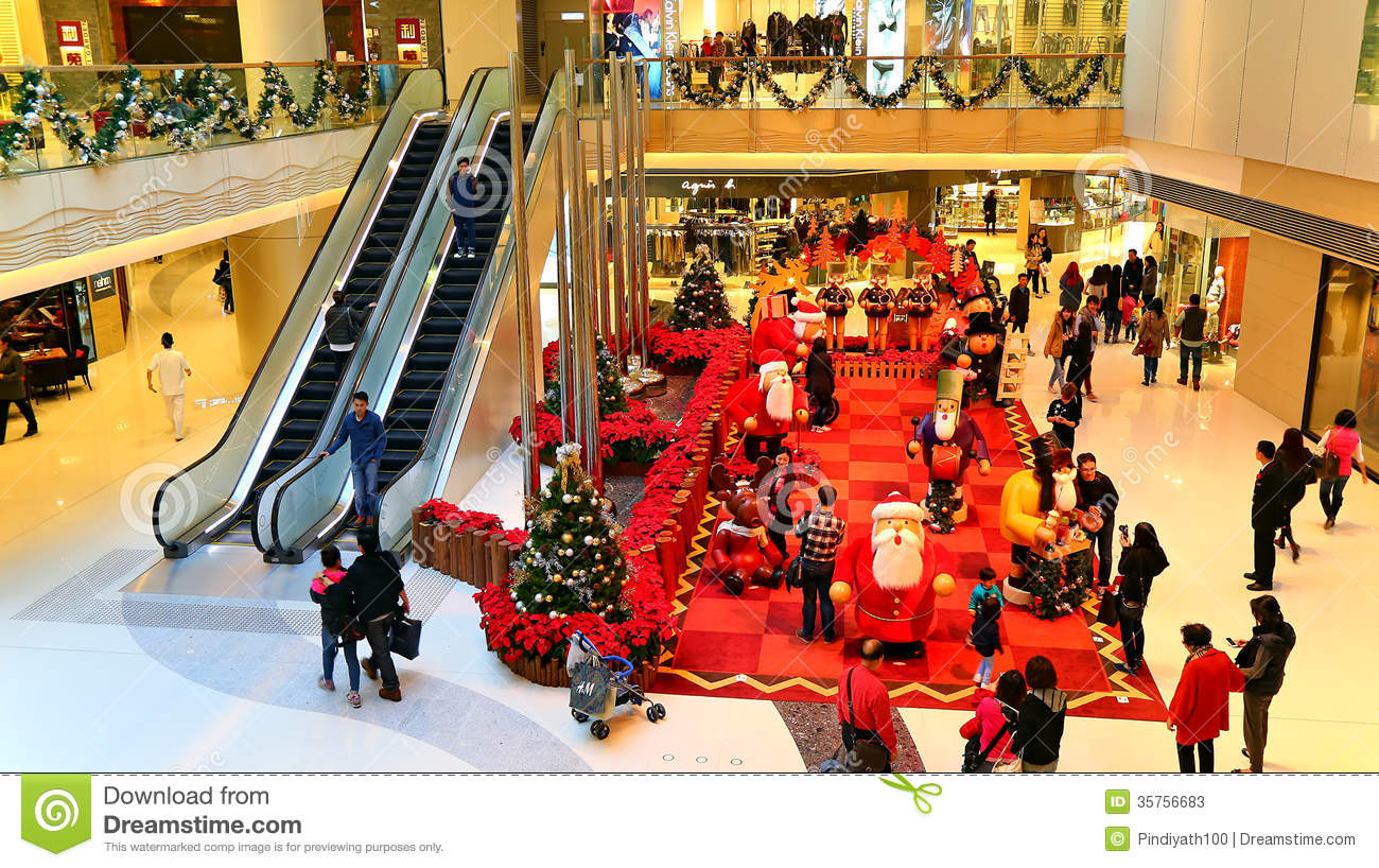 christmas decoration at shopping mall stock photo 35756683 megapixl - Mall Christmas Decorations