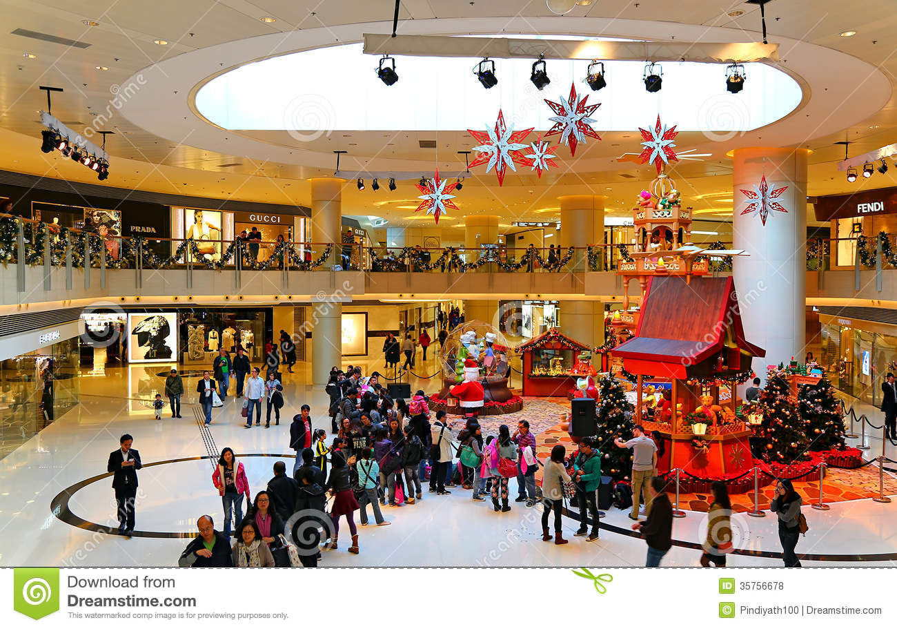 Christmas decoration in shopping mall editorial stock for Decoration shopping