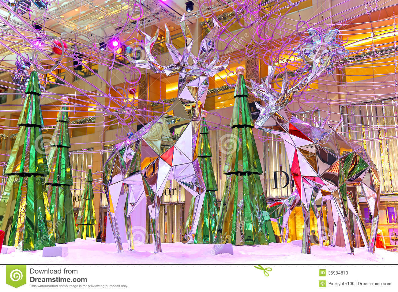 Christmas decoration at shopping mall editorial image for Decoration shopping