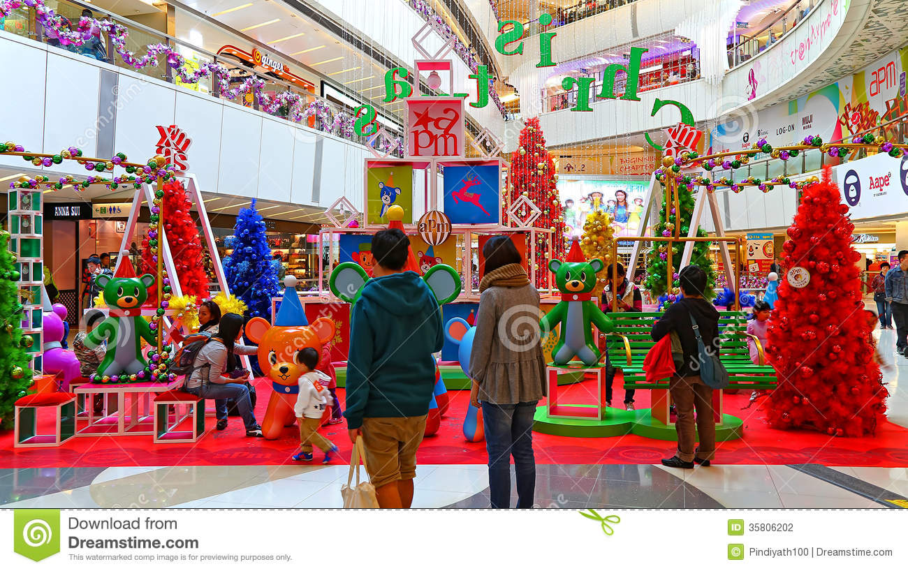 Christmas Decoration At Shopping Mall Editorial