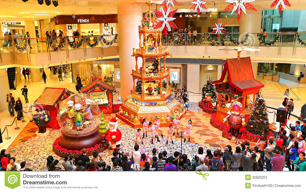 Christmas decoration at shopping mall editorial photo for Decoration shopping