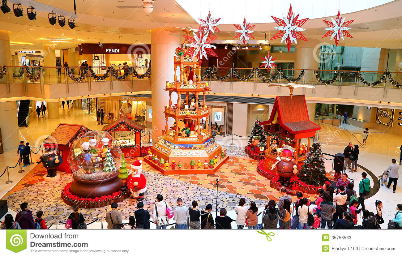 christmas decoration at shopping mall