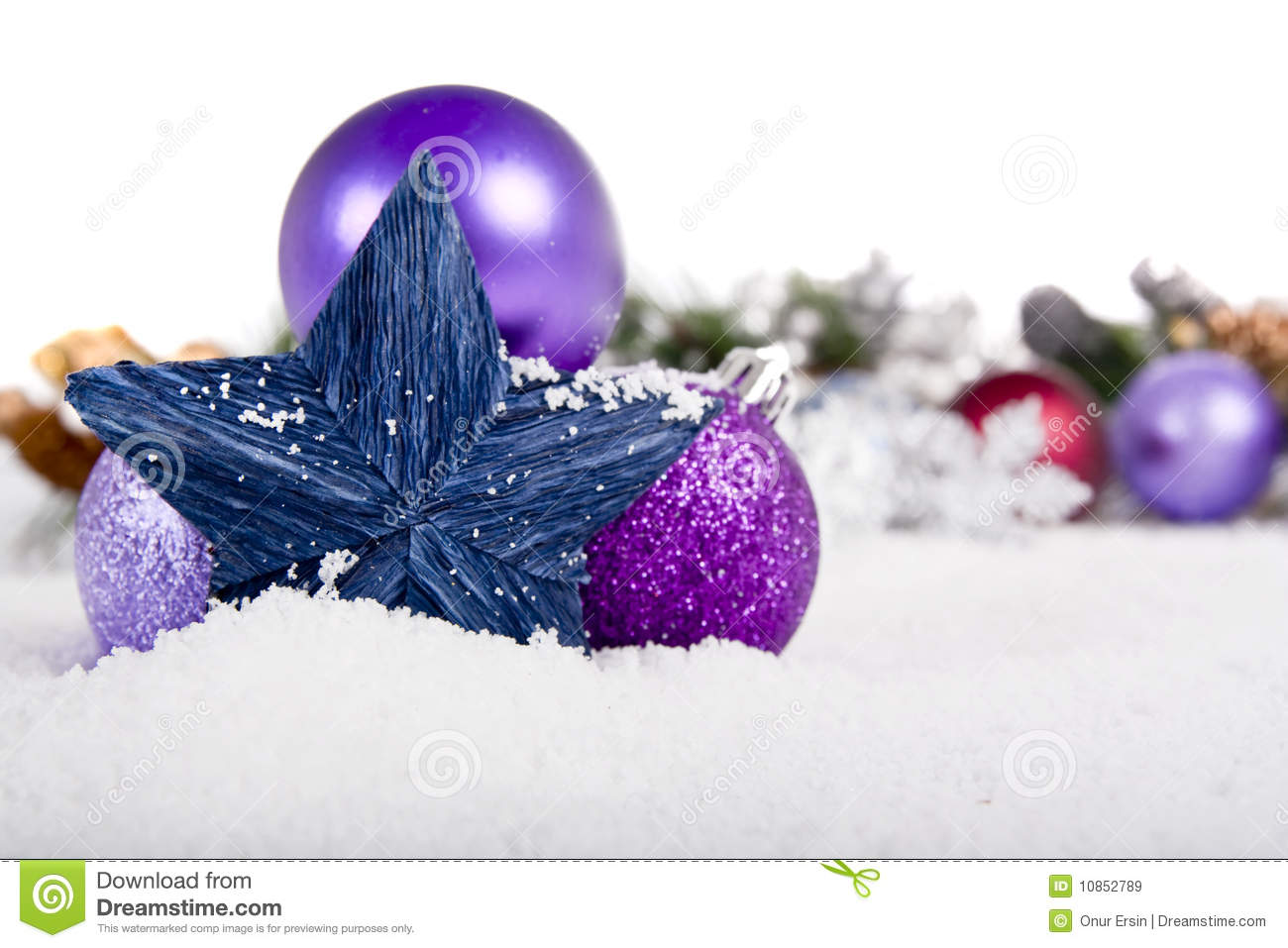 Christmas decoration on snow royalty free stock images for Artificial snow decoration