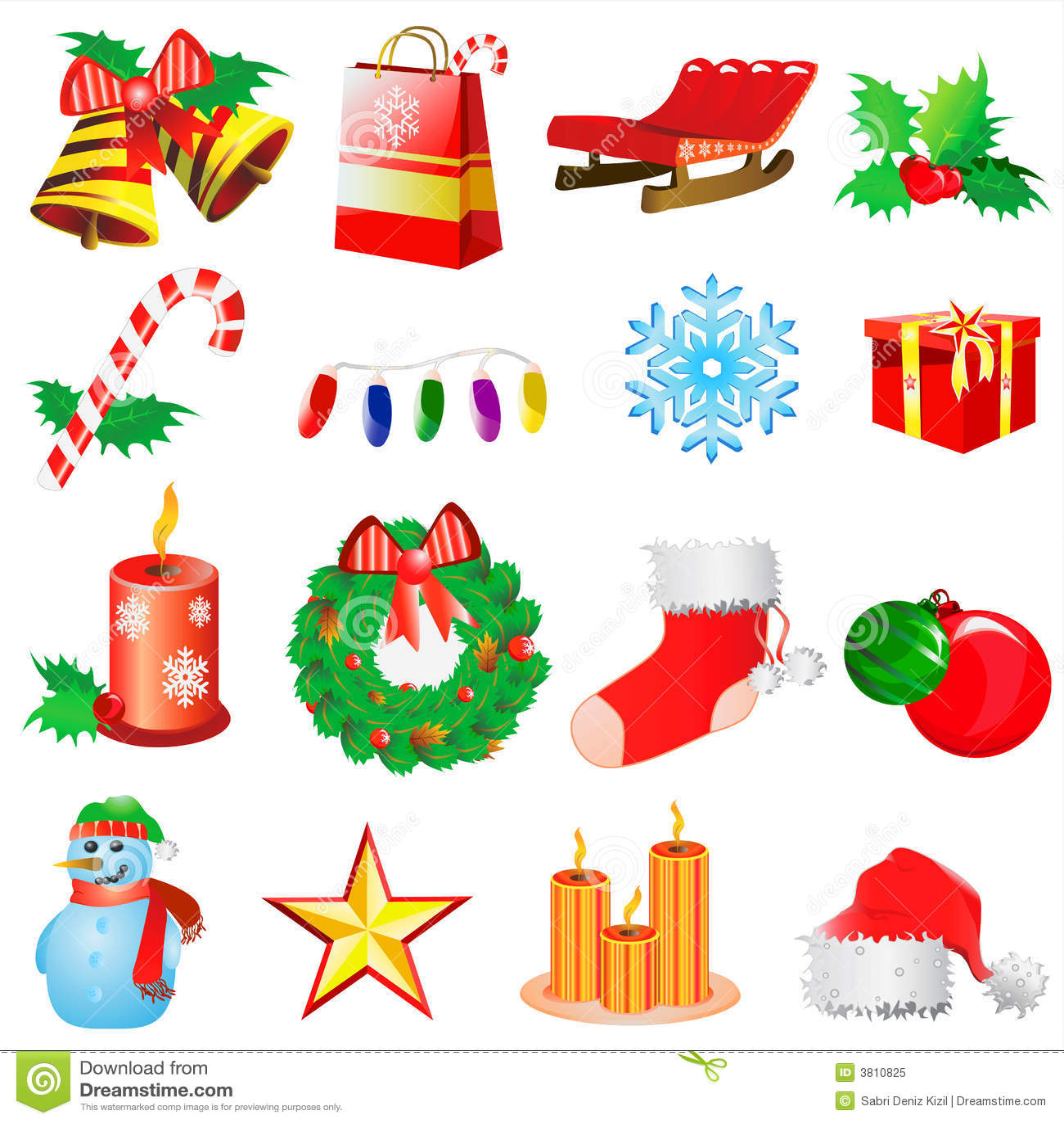 Christmas Decoration Vector 2 Royalty Free Stock Photo