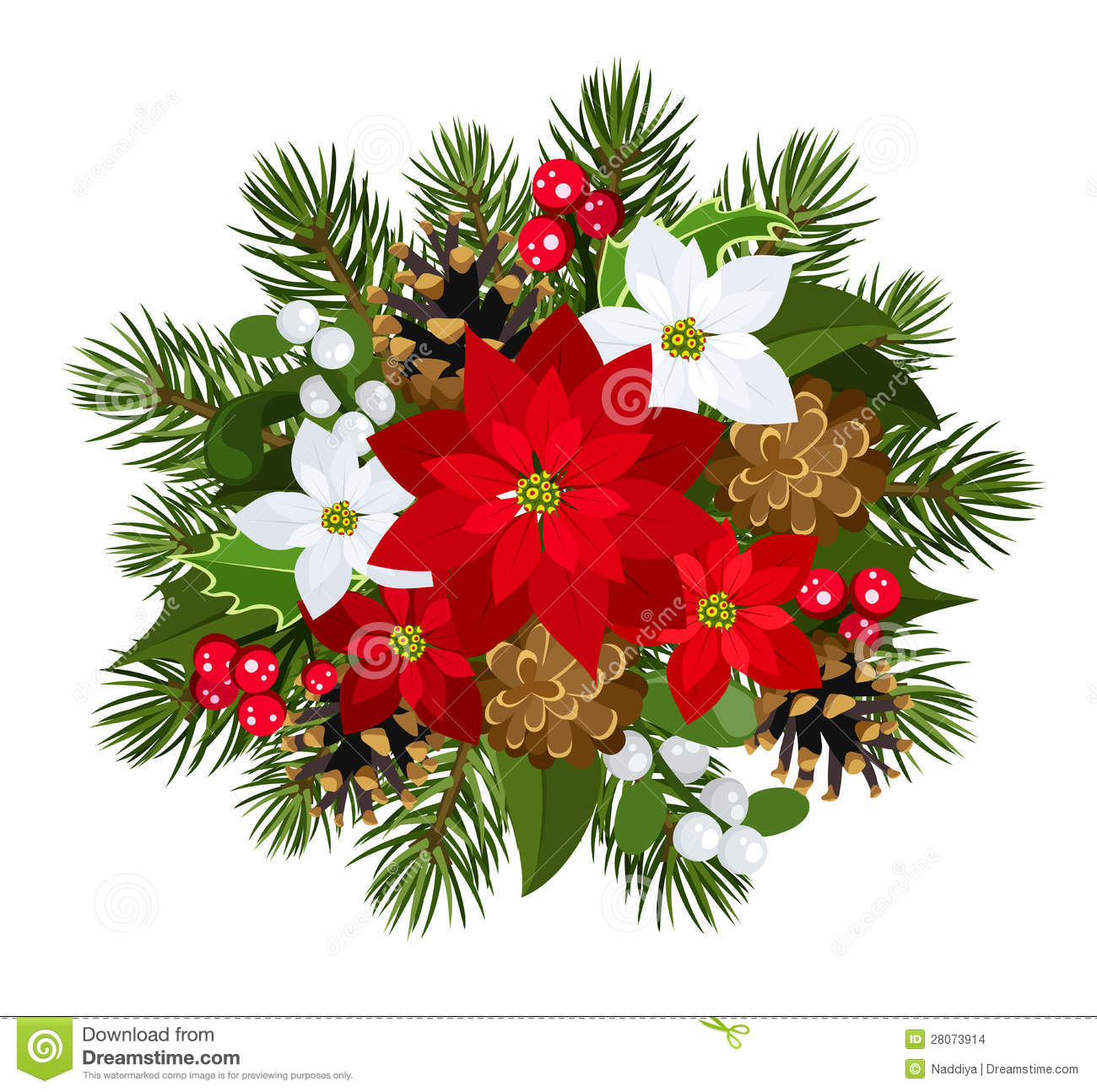 christmas decoration vector illustration stock images