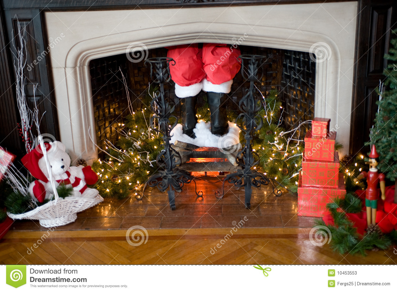 Christmas Decorations stock image. Image of pants, gifts ...