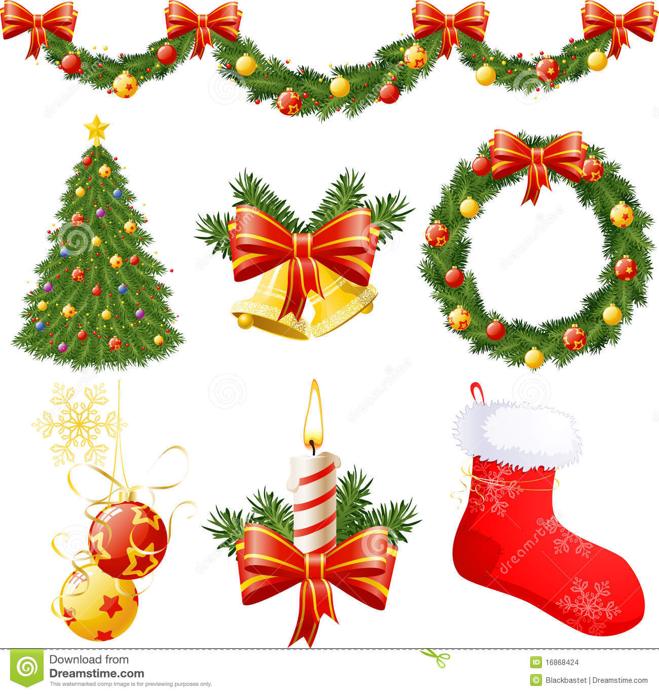 Christmas decorations stock vector illustration of tree for Christmas decorations images