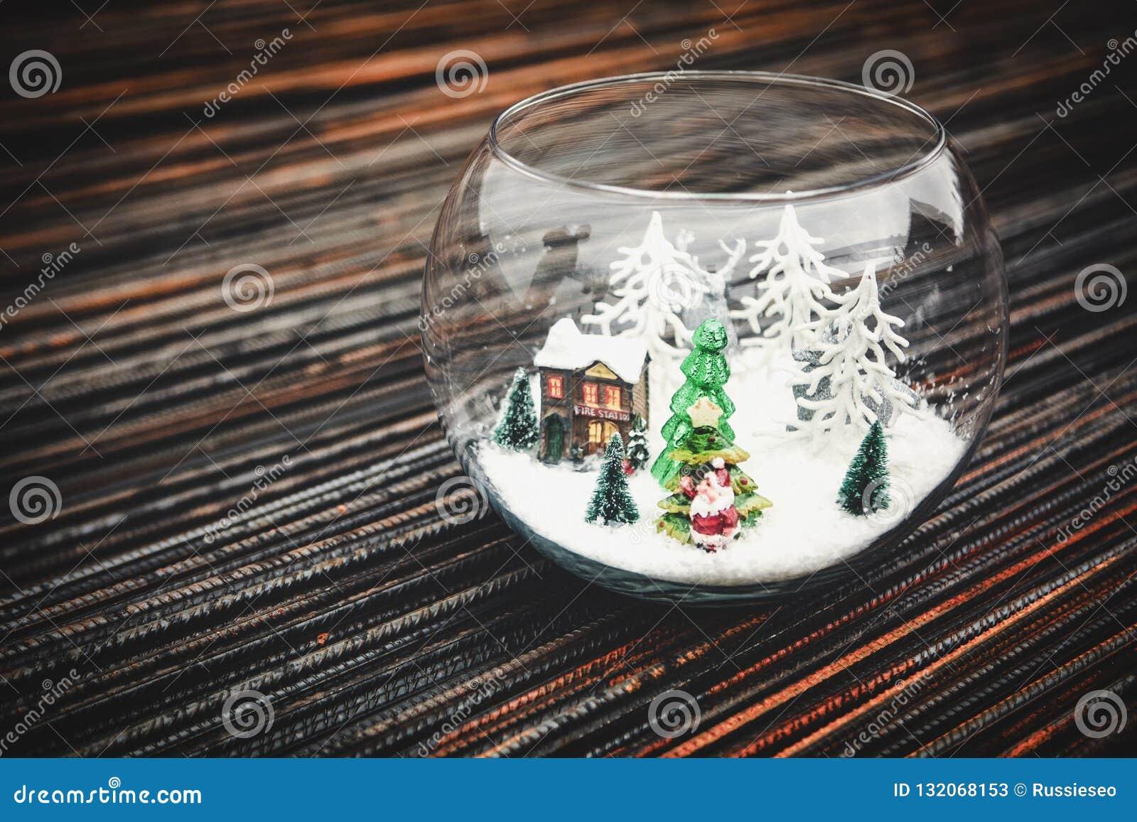 Christmas Decorations In Aquarium Stock Image Image Of Decoration Festive 132068153