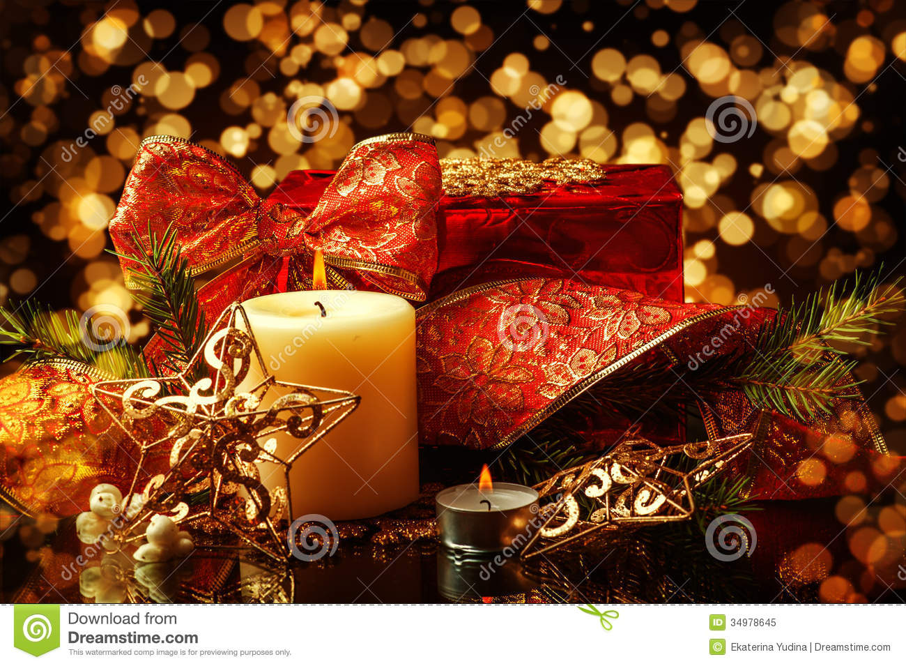 Christmas Decorations Background For Card Royalty Free