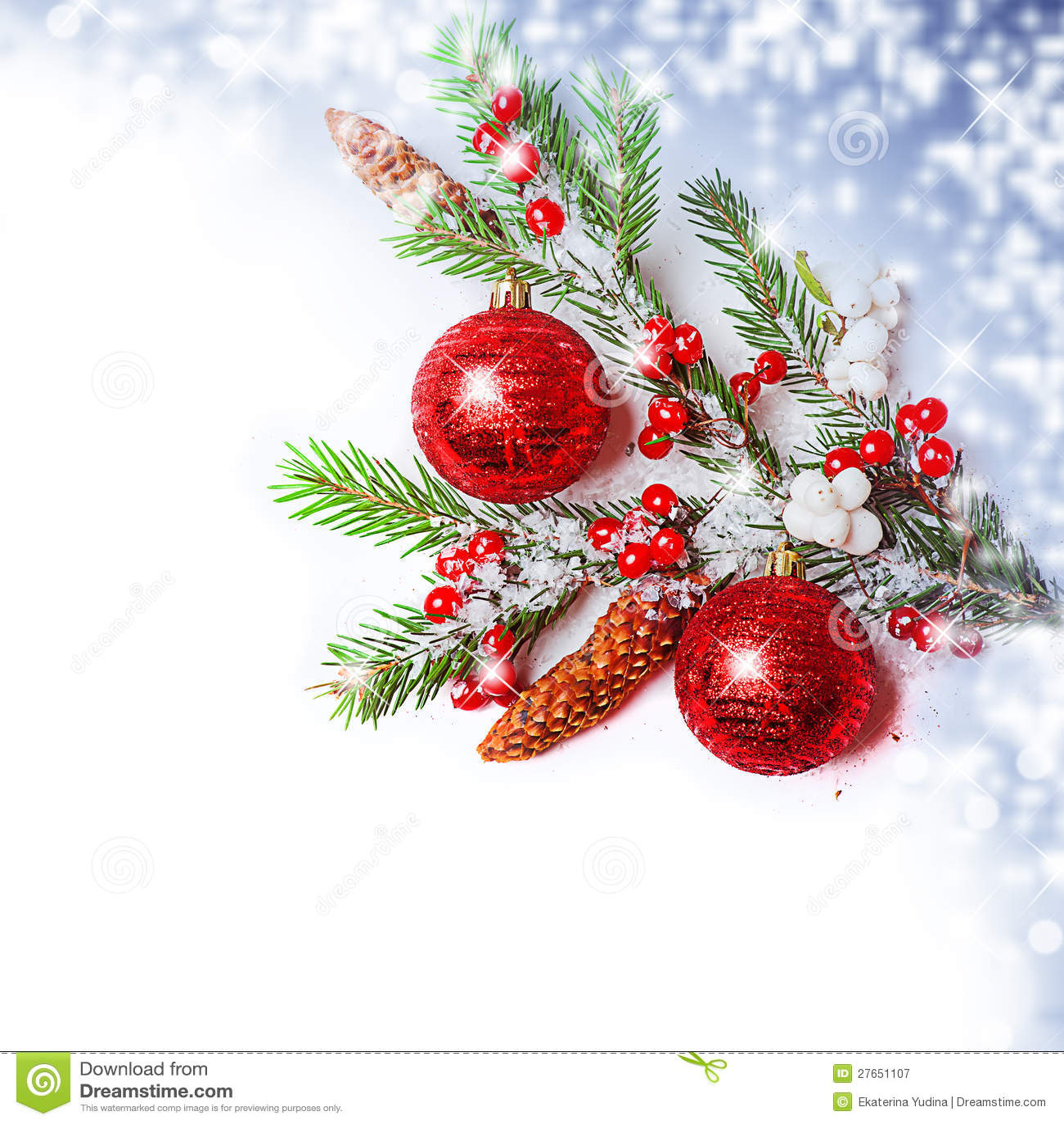 Christmas Decorations Border Royalty Free Stock