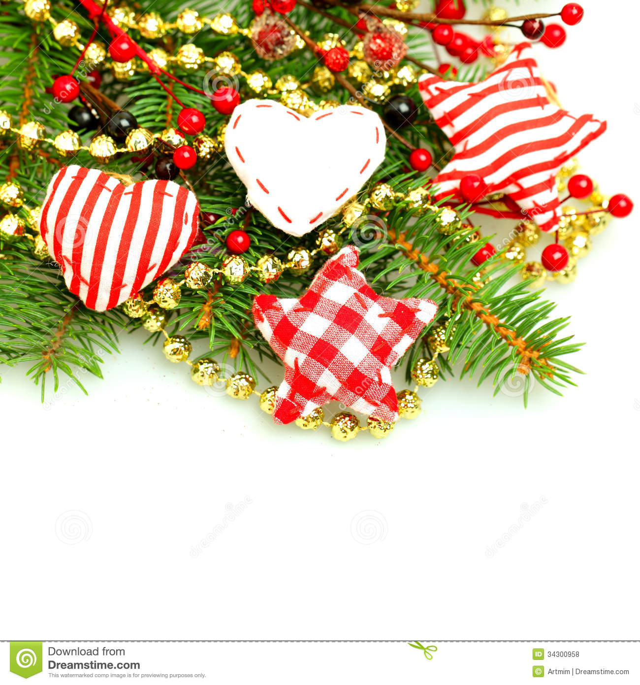 Christmas decorations border stock photo image 34300958 for Back ground decoration
