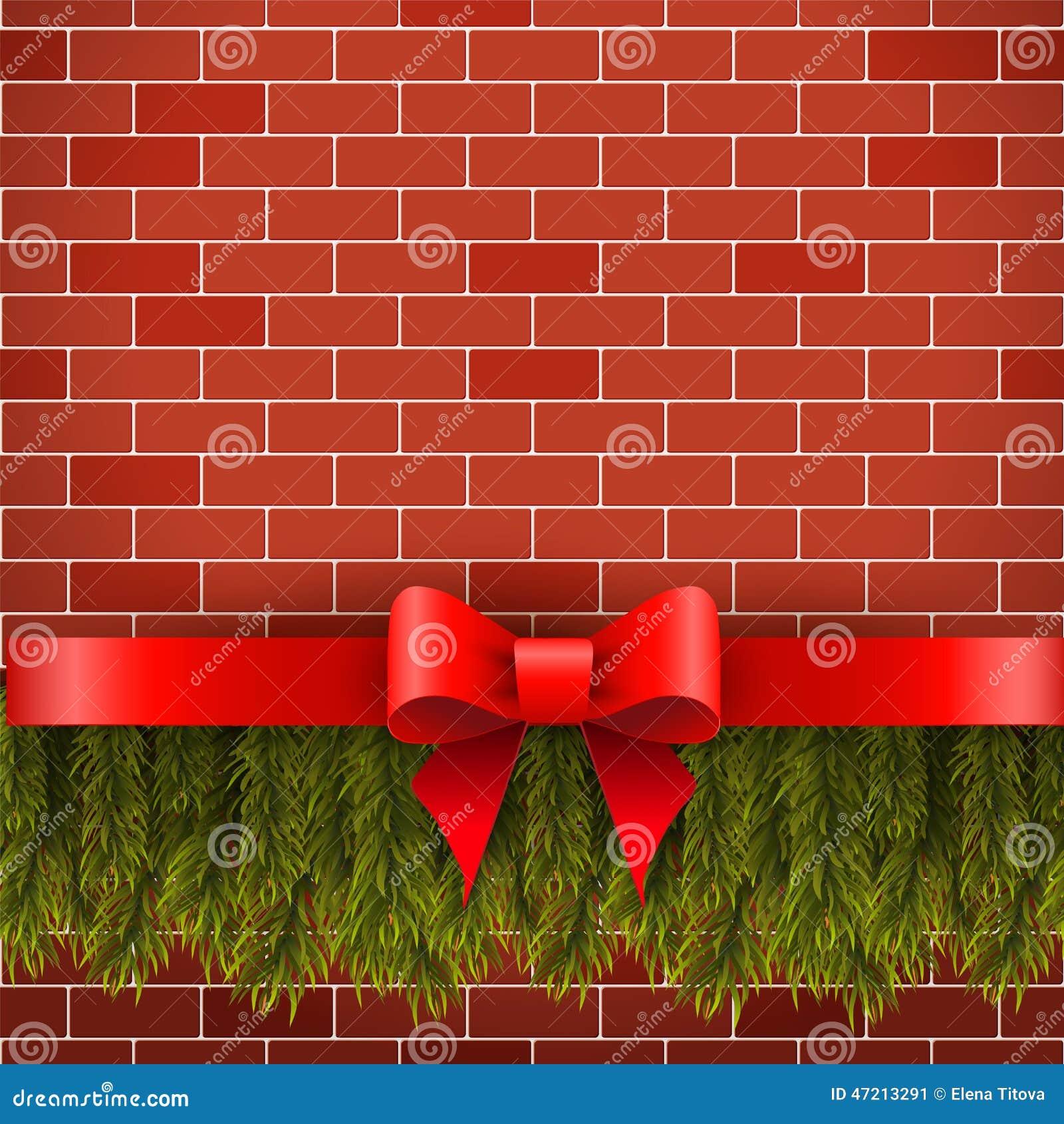Christmas decorations stock photo image 47213291 - Brick wall decoration ideas ...