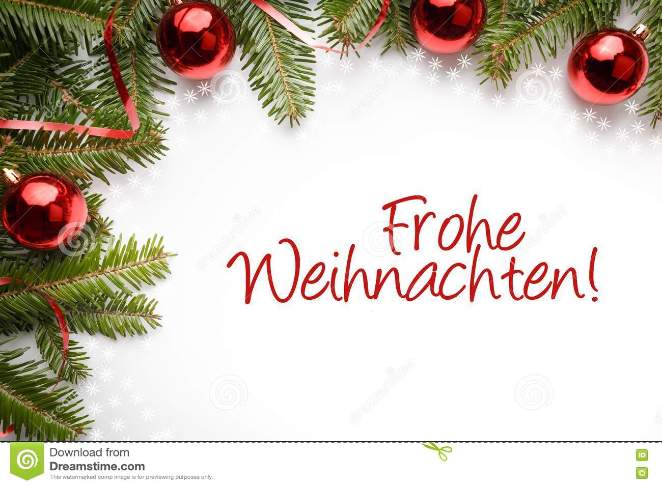 Christmas Decorations With The Christmas Greeting In German `Frohe ...