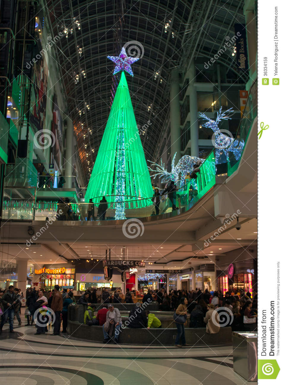 Dreamstime Com Christmas Decorations In Shopping Malls