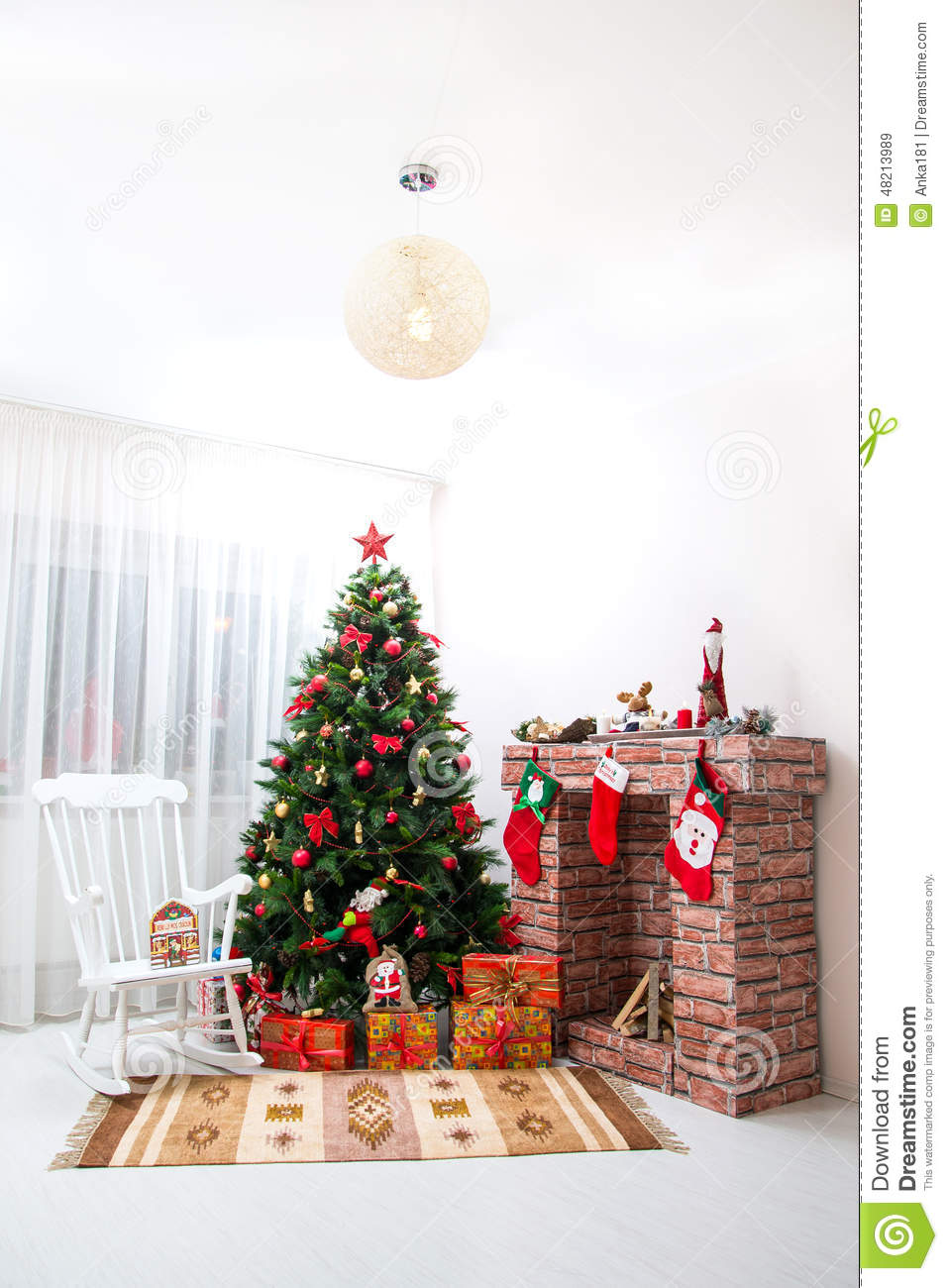 Surprising Christmas Decorations Stock Image Image Of Rocking Holiday Machost Co Dining Chair Design Ideas Machostcouk