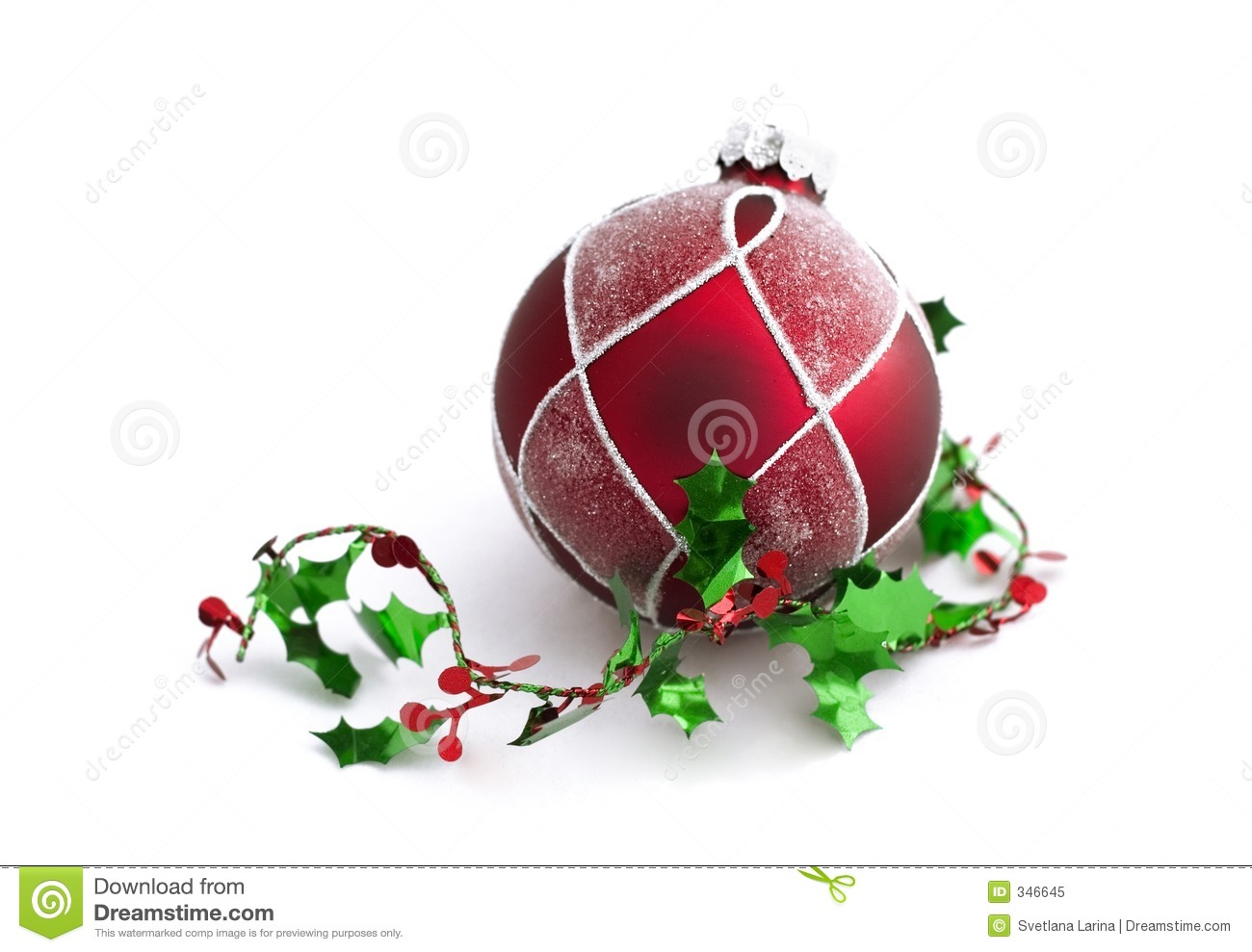 Christmas Decorations With Free Space Stock Image - Image of ...