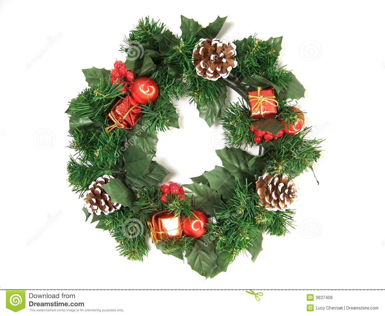 Christmas decorations garland stock photo image