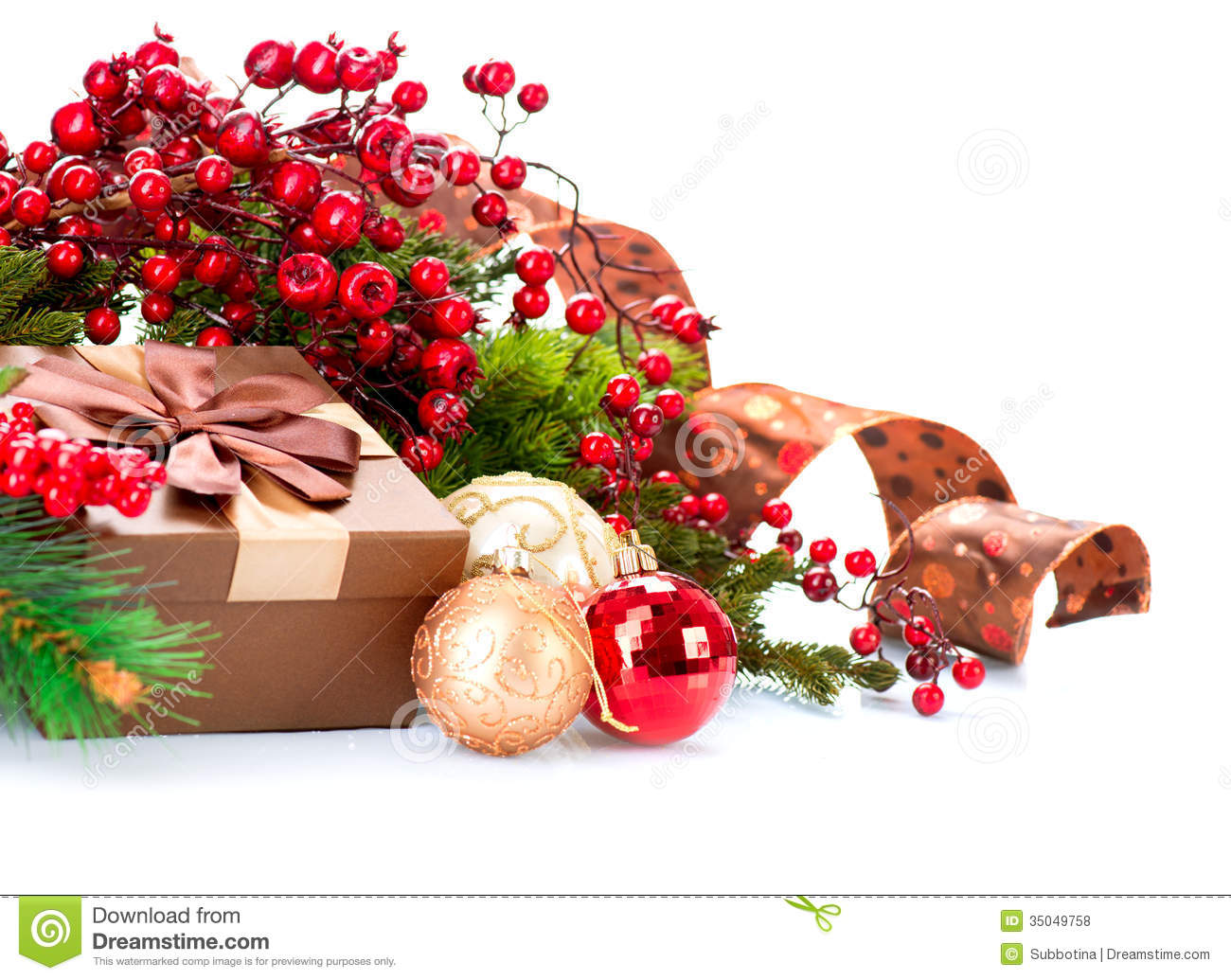 christmas decorations and gift box - Christmas Gift Decorations