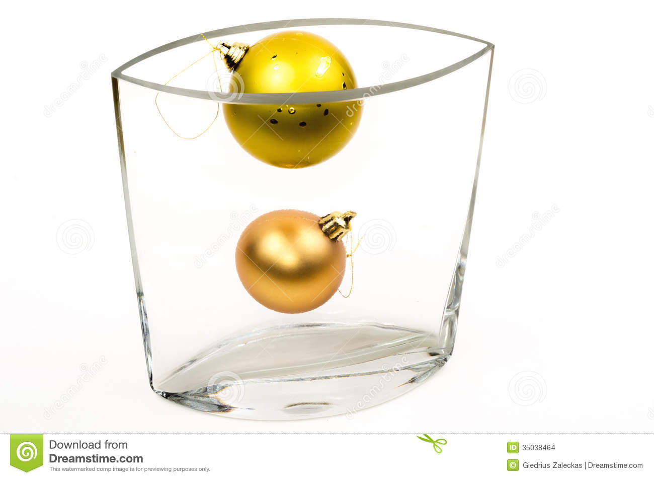 Christmas Decorations In Glass Vase Stock Photo - Image of ...