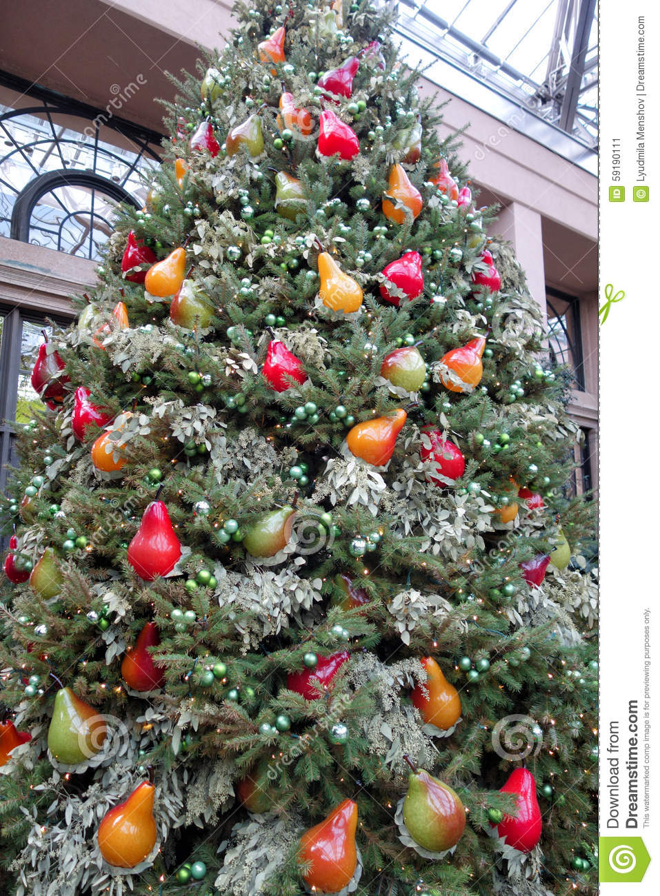 christmas decorations in the greenhouses of longwood gardens - Orange Coloured Christmas Tree Decorations