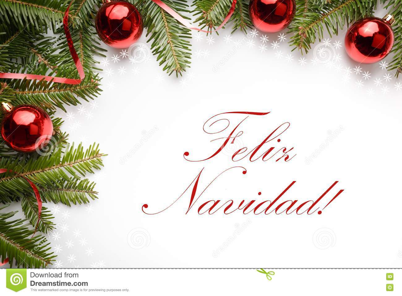 christmas decorations with the greeting feliz navidad in spanish stock photo image of feliz natale 81519338 dreamstime com