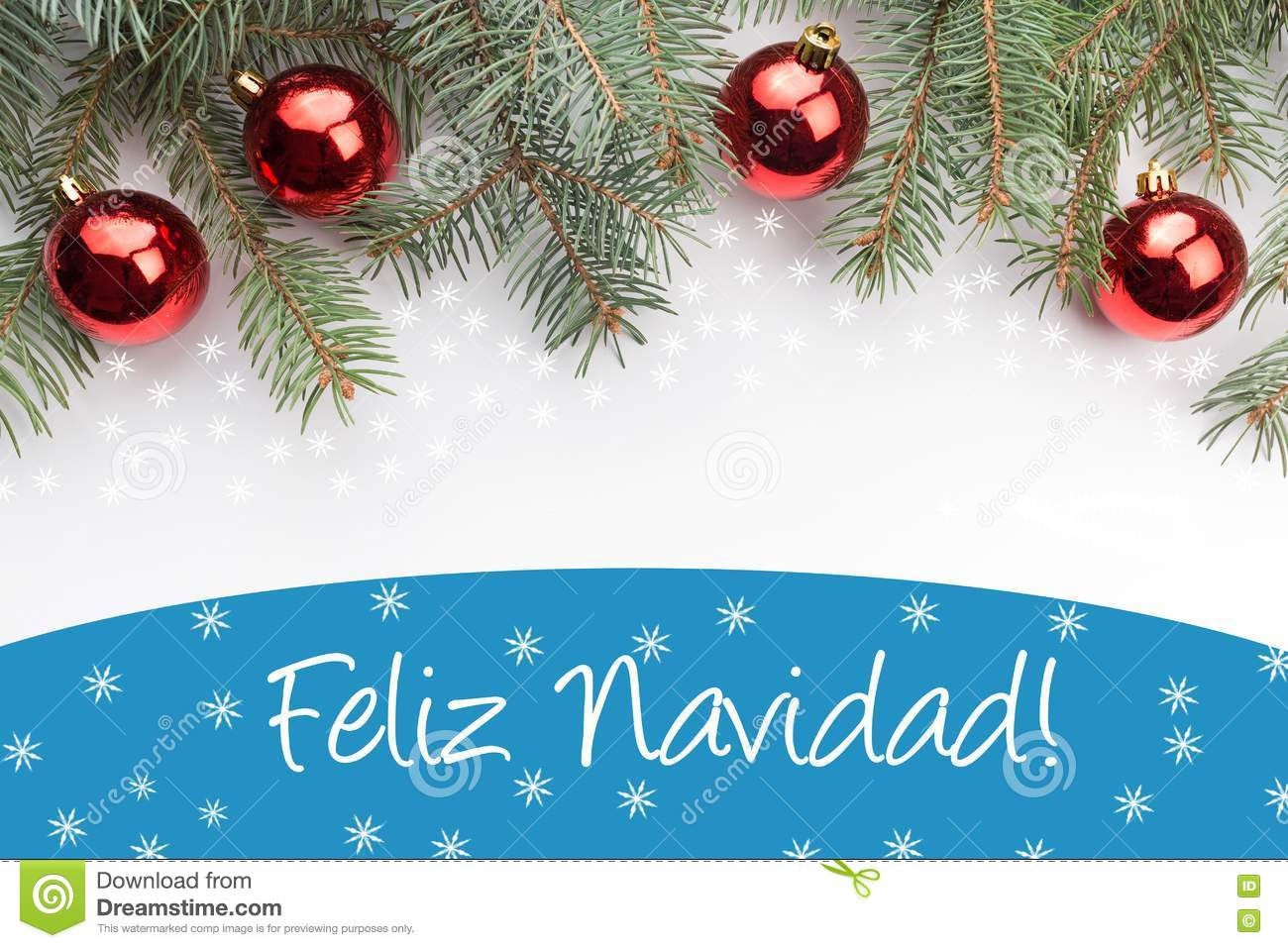 christmas decorations with the greeting feliz navidad in spanish