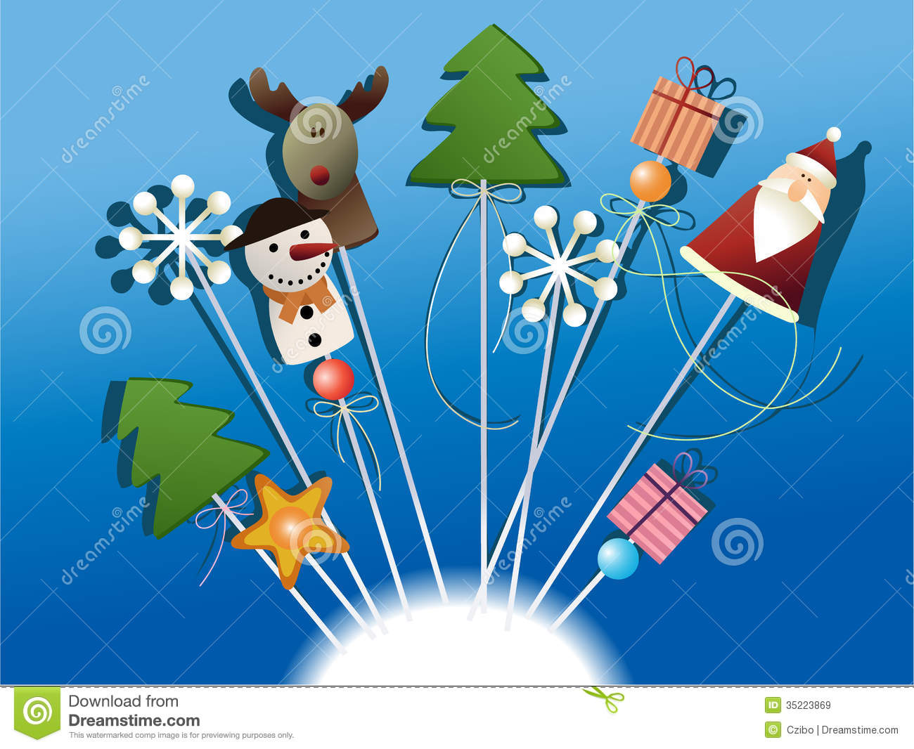 Christmas decorations royalty free stock images image for Decoration sticks
