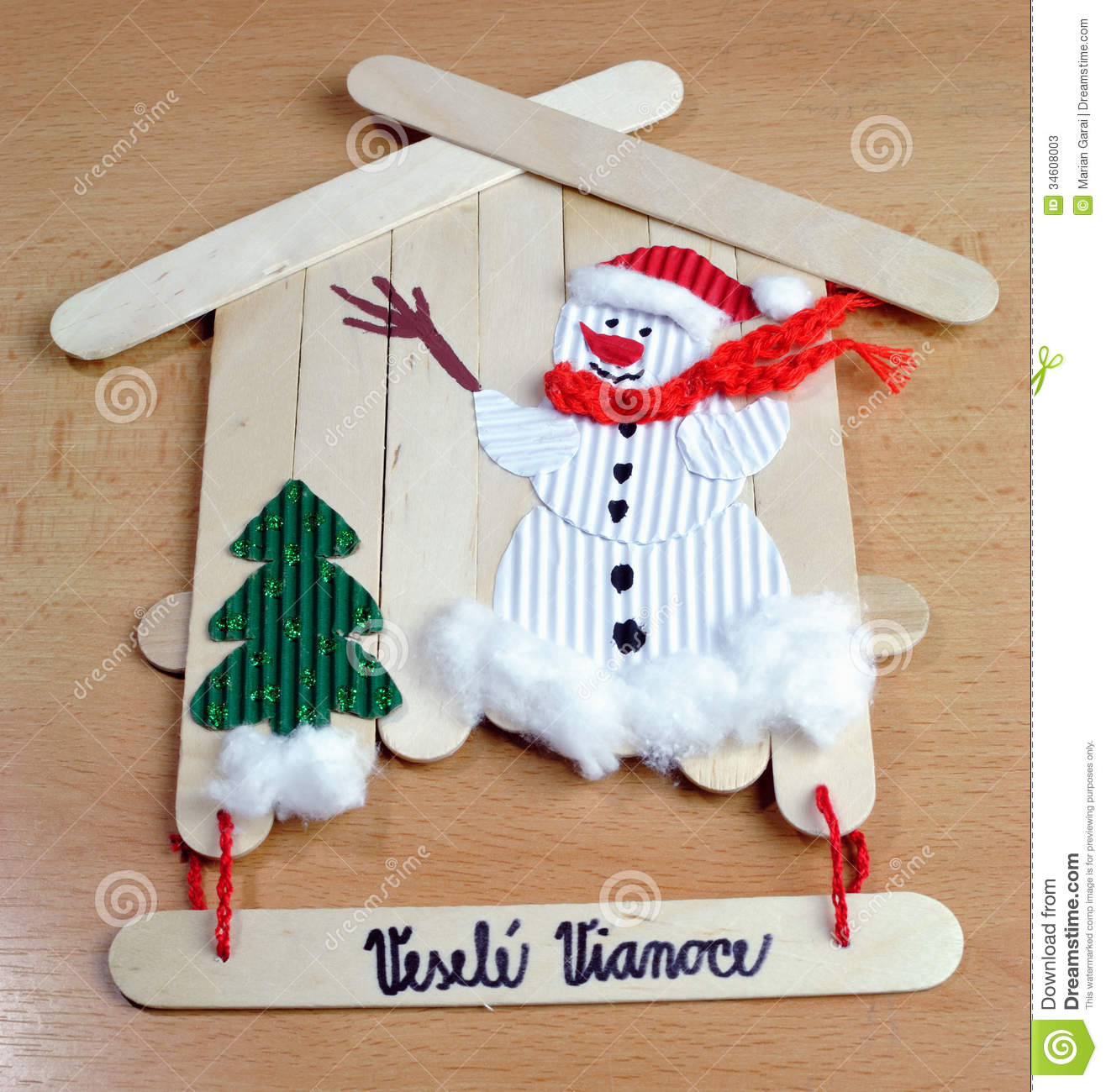 Christmas Decorations Handmade Stock Photos Image 34608003