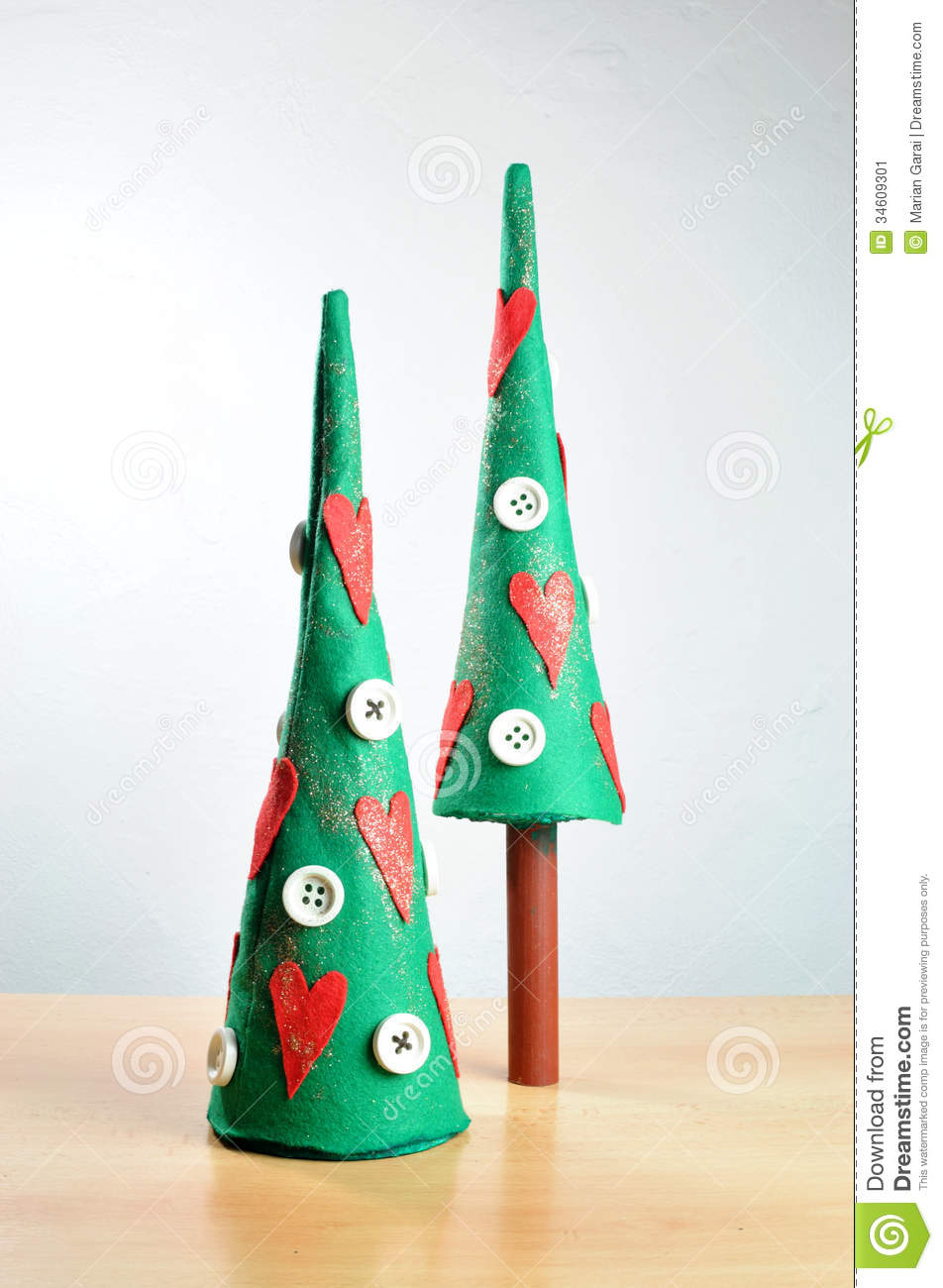 Christmas decorations handmade stock image image of for Home made xmas decorations