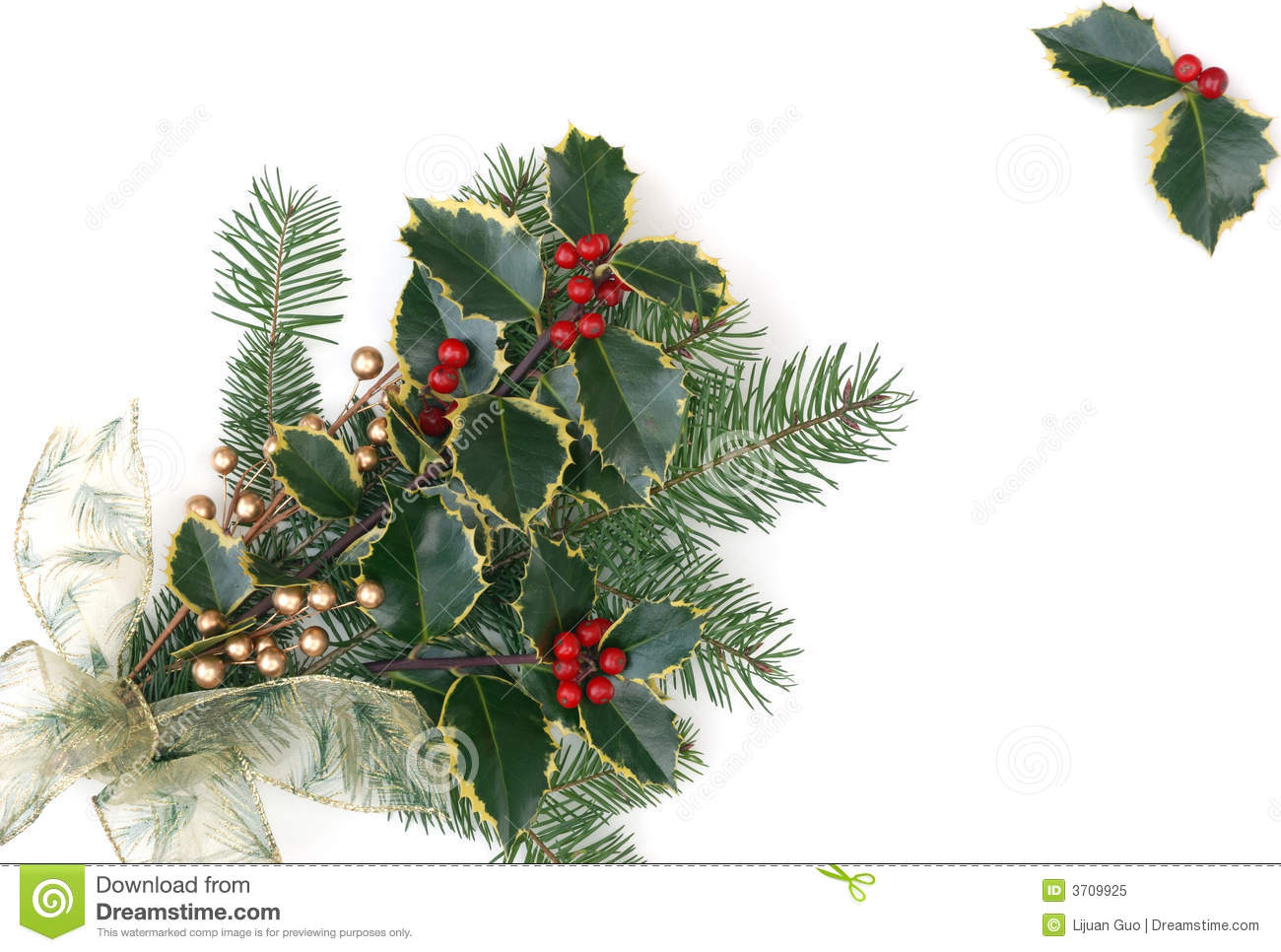 Christmas Decorations With Holly Berries Stock Image - Image of ...