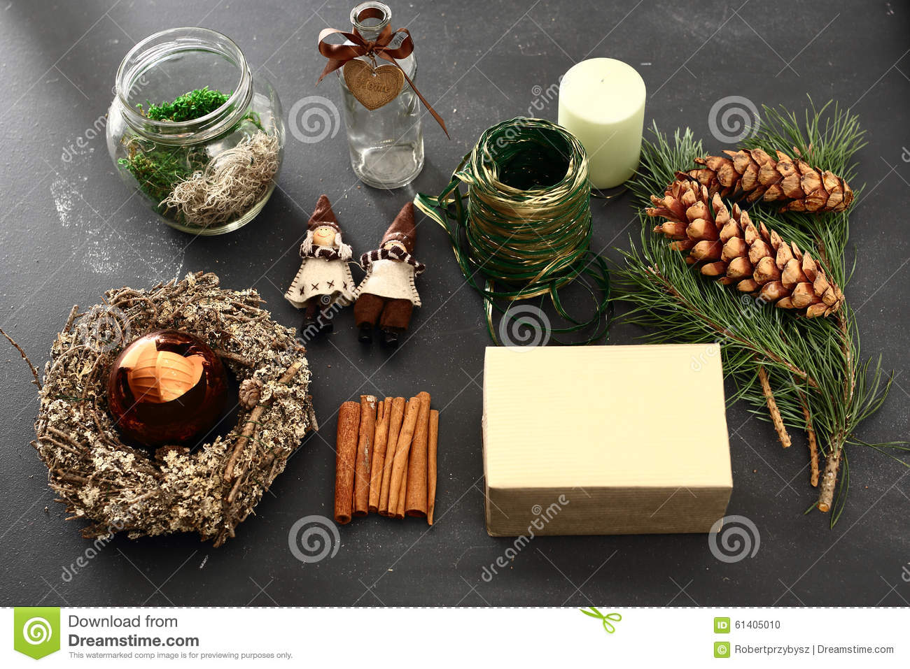 Christmas decorations idea of a handmade gift stock photo for Handmade things for decoration