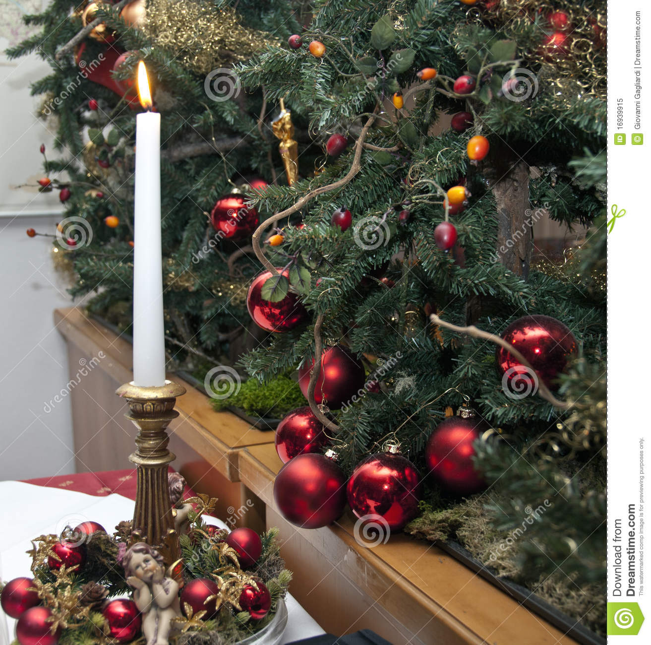 Christmas Decorations, Italy Stock Image