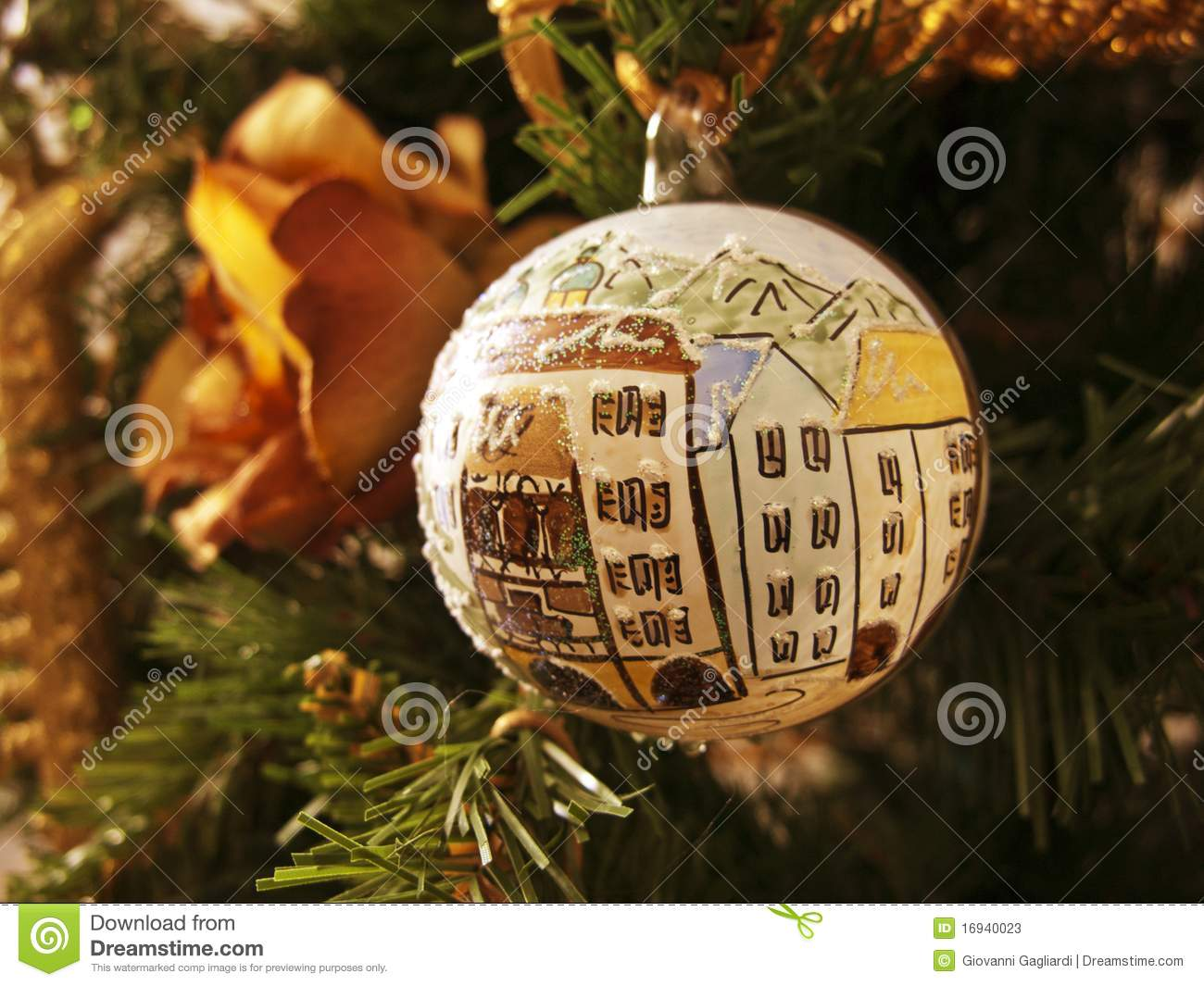 Christmas In Italy Decorations.Christmas Decorations Italy Stock Image Image Of Green