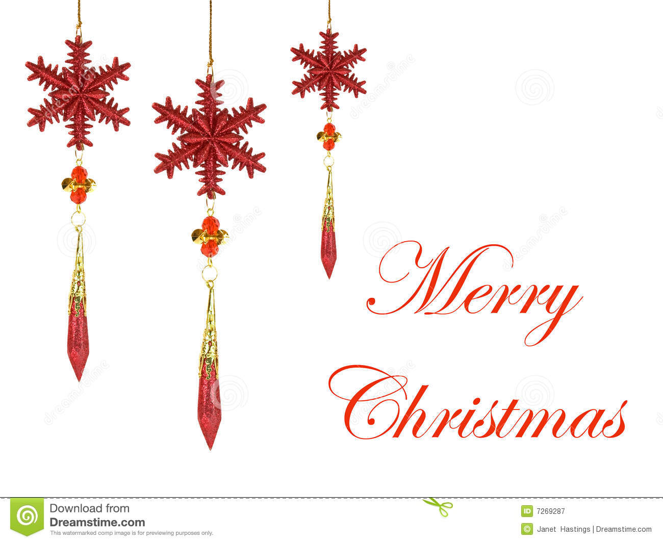 Christmas Decorations With Merry Christmas Text Royalty Free Stock ...