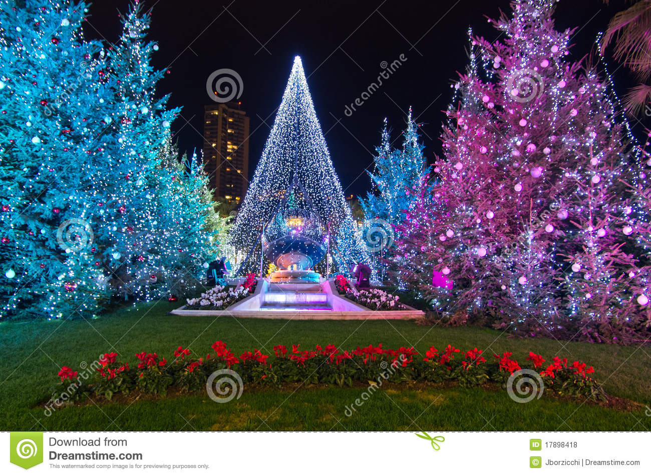 Christmas In France Decorations.Christmas Decorations In Monaco Montecarlo France Editorial