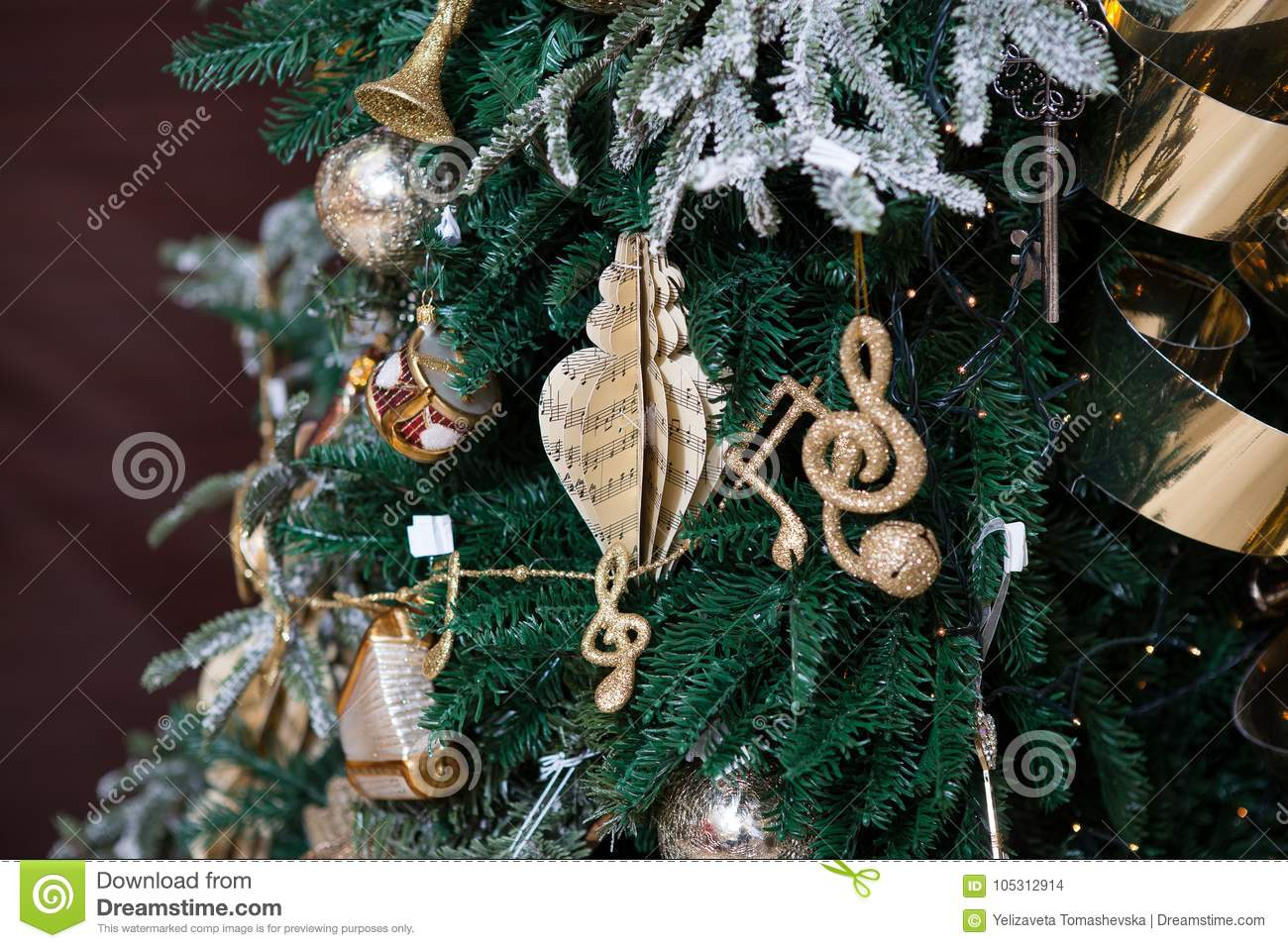music christmas tree decorations