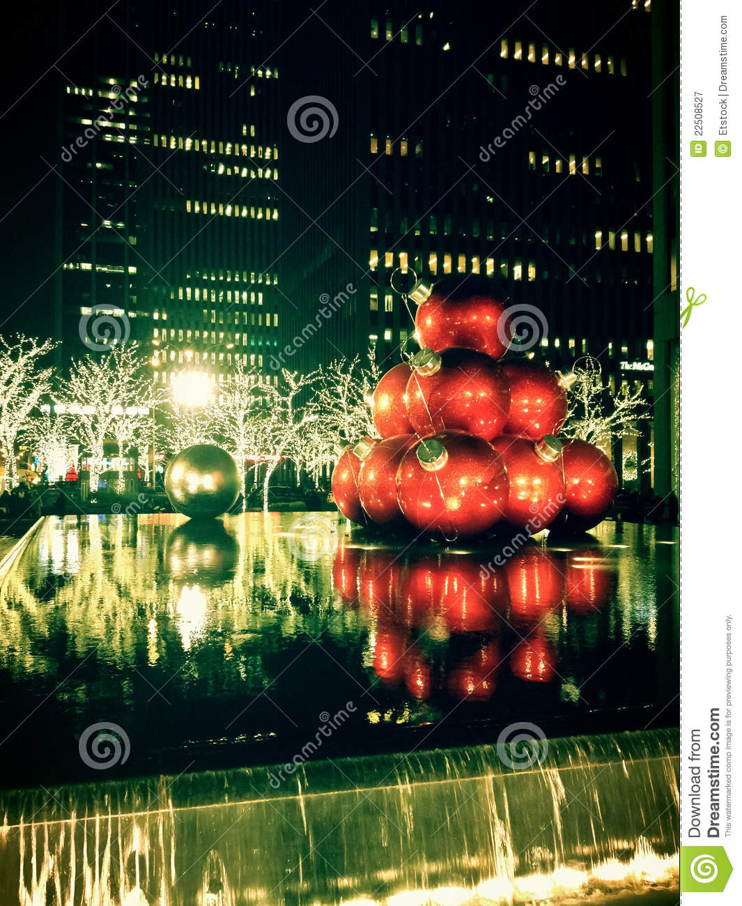 Christmas decorations in new york city stock image image for Decoration new york
