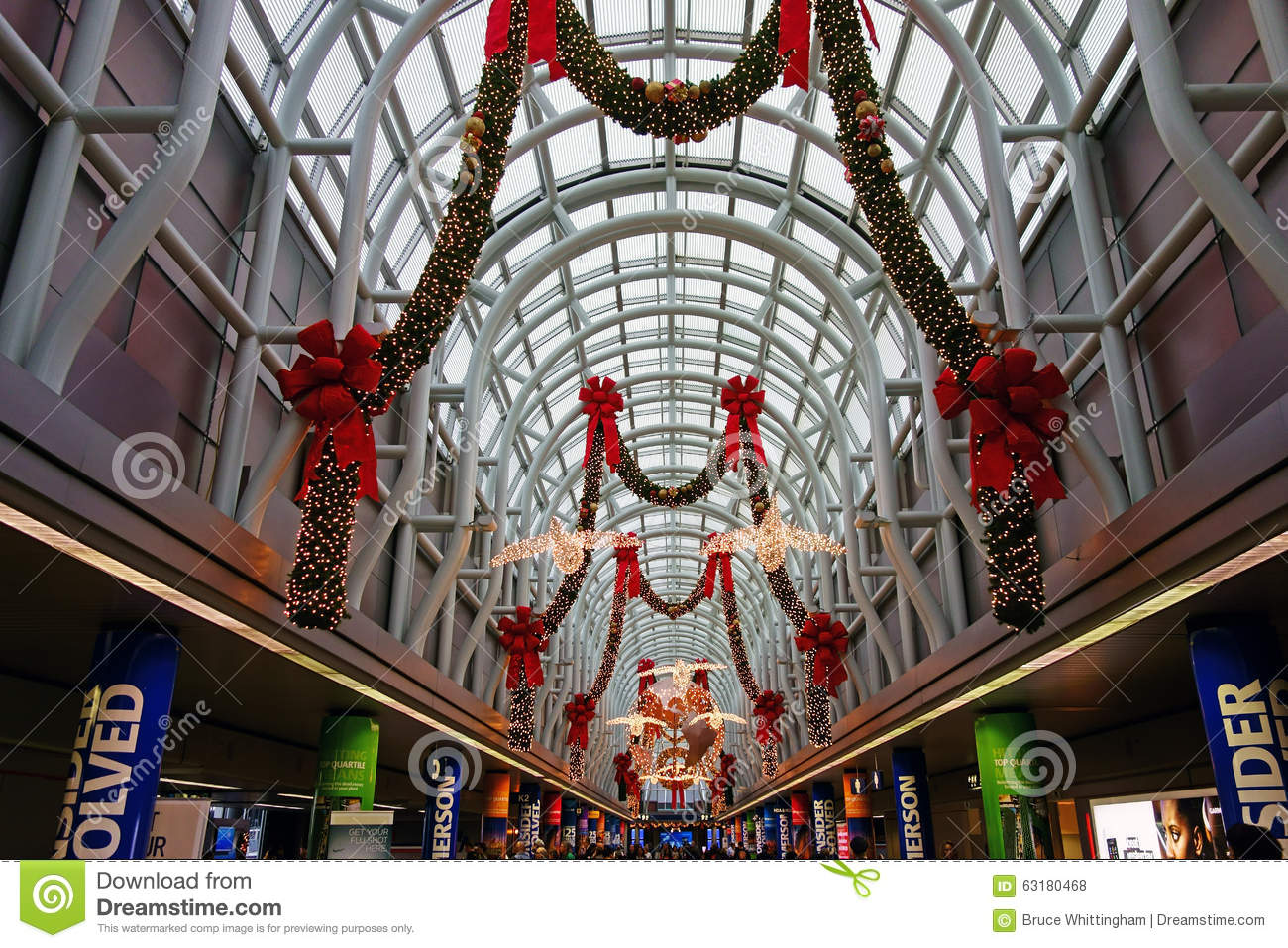 download christmas decorations ohare airport chicago editorial stock photo image of - Chicago Christmas Decorations