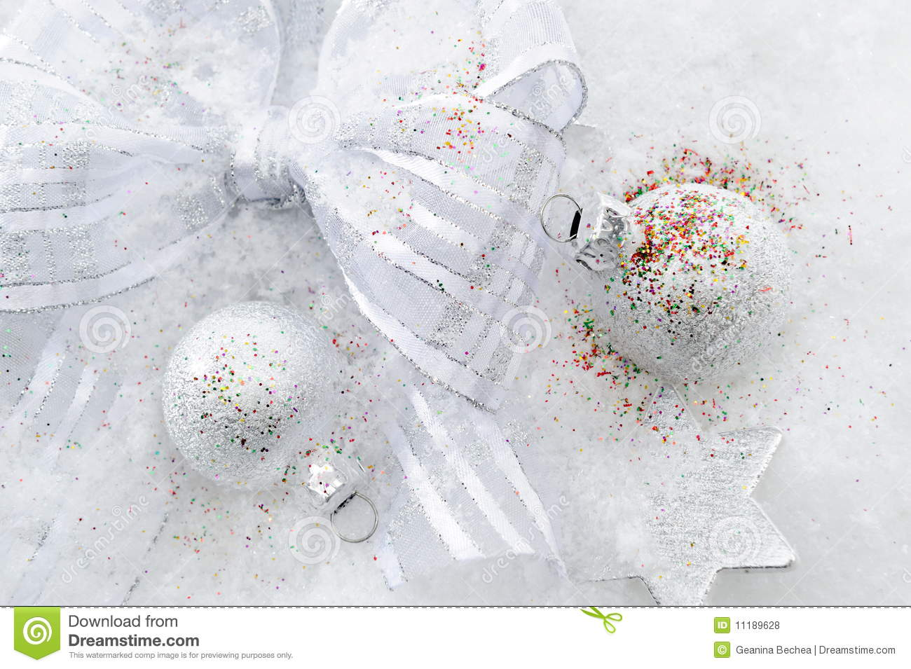 Decorating Ideas > Christmas Decorations Over Snow Royalty Free Stock Photos  ~ 135331_Christmas Decoration Ideas Snow