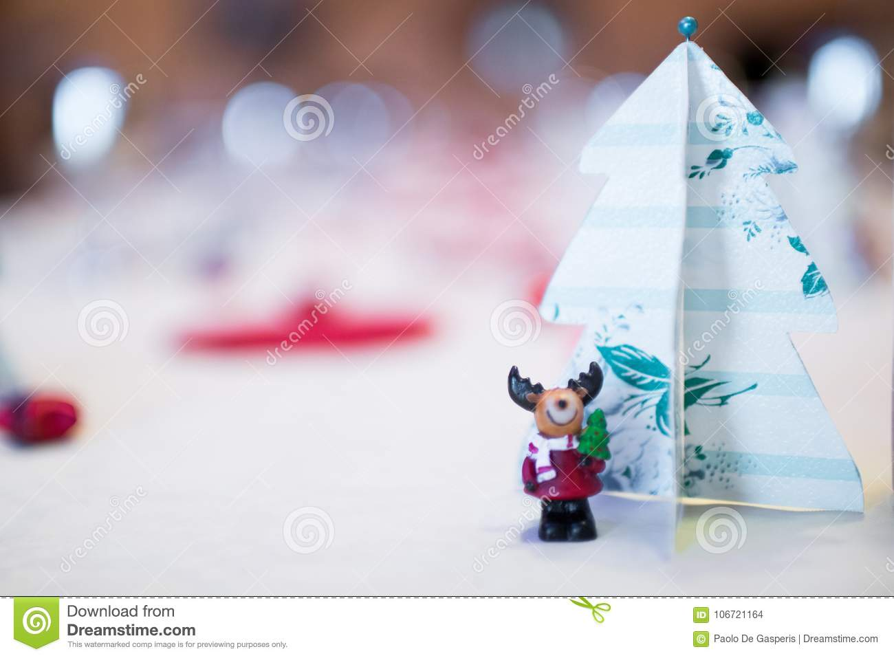 Christmas Decorations With Paper Christmas Trees And A