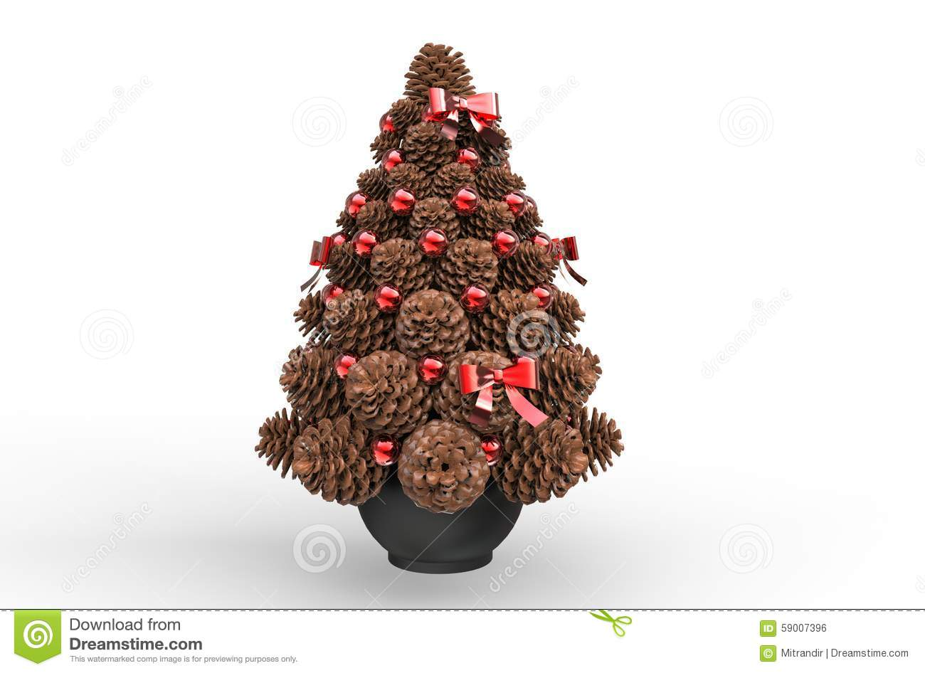 Pine Cone Christmas Decorations Pine Cones For Christmas Decorations Stock Photography Image