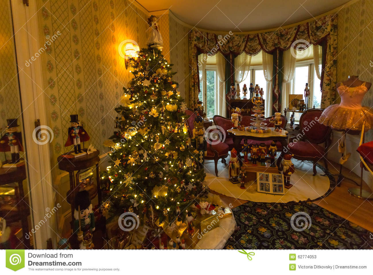 download christmas decorations in pittock mansion editorial stock photo image of season traveling - Mansion Christmas Decorations