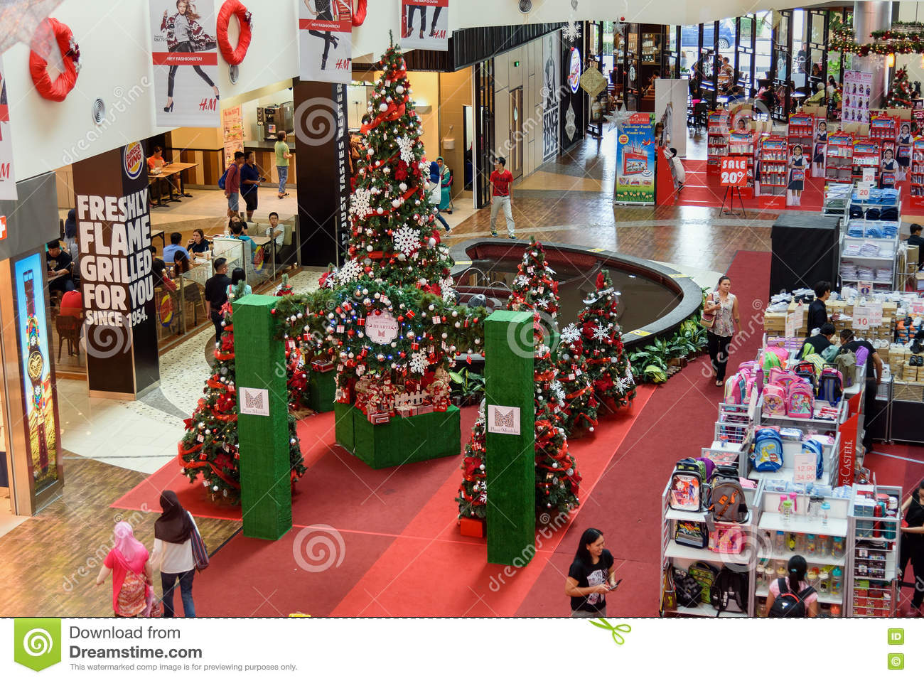 Shopping centre christmas decorations for sale christmas for Home wallpaper kuching