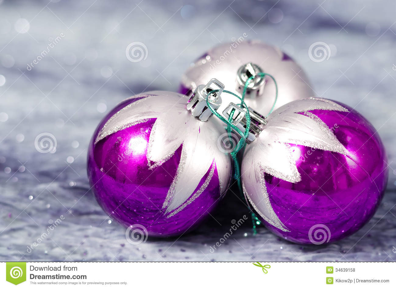 download christmas decorations purple and silver stock photo image of gray ball 34639158