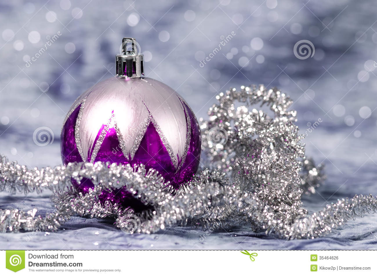 christmas decorations purple and silver