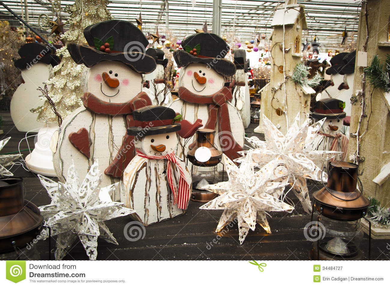 Christmas Decorations For Sale Stock Image - Image of ...