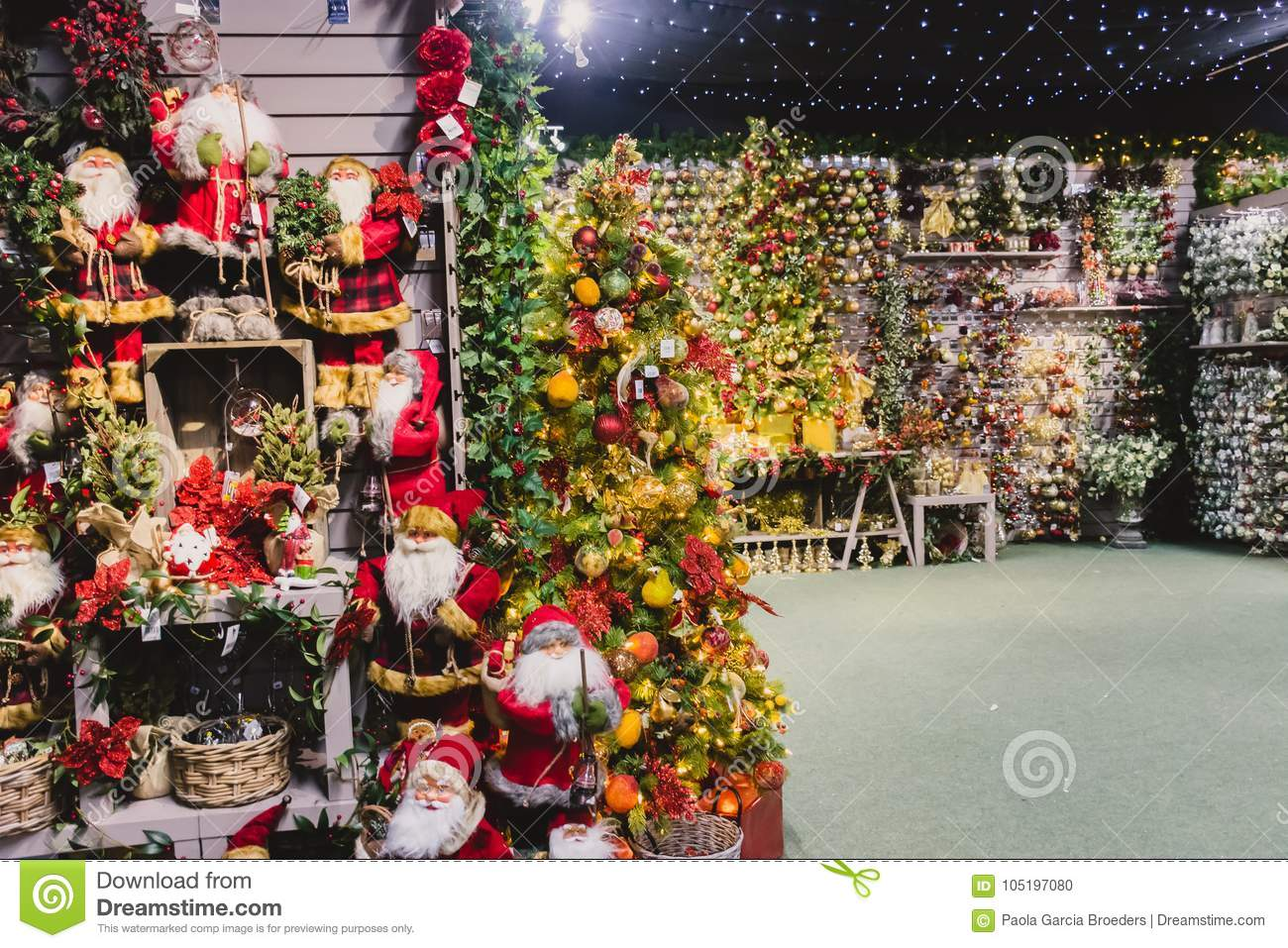 Christmas Decorations On Sale Editorial Image - Image of ...
